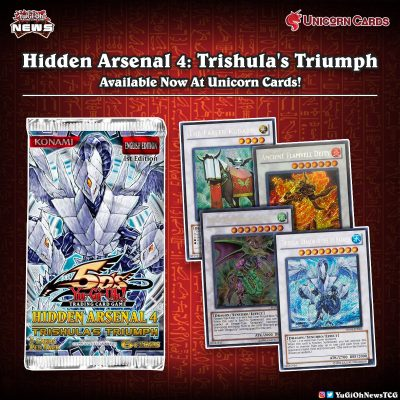 """❰𝗨𝗻𝗶𝗰𝗼𝗿𝗻 𝗖𝗮𝗿𝗱𝘀❱ The old booster pack """"Hidden Arsenal 4: Trishula's Triumph"""" is n..."""