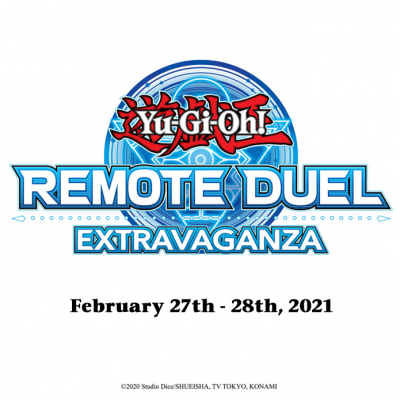 Don't forget: this weekend, participate in the #YuGiOhTCG #RemoteDuel Extravagan...