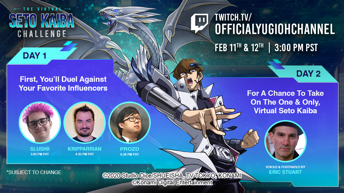 You better get ready to take down @Slushiimusic, @ProZD or @Kripparrian in #YuGi...