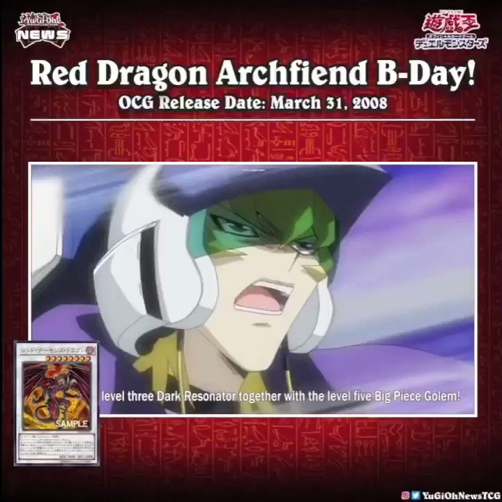 """❰𝗥𝗲𝗱 𝗗𝗿𝗮𝗴𝗼𝗻 𝗔𝗿𝗰𝗵𝗳𝗶𝗲𝗻𝗱 𝗕-𝗗𝗮𝘆❱ Today is the birthday of the OCG """"Red Dragon Archfi..."""