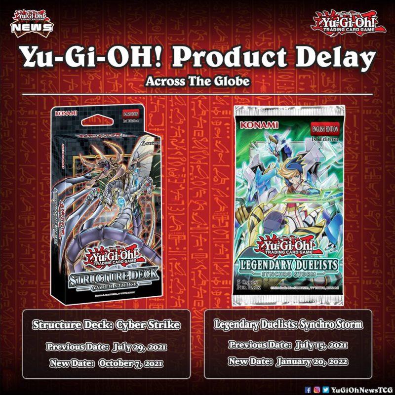 ❰𝗣𝗿𝗼𝗱𝘂𝗰𝘁 𝗗𝗲𝗹𝗮𝘆❱ Yu-Gi-Oh! product delay all across the globe  #遊戯王 #YuGiOh #유희왕 ...