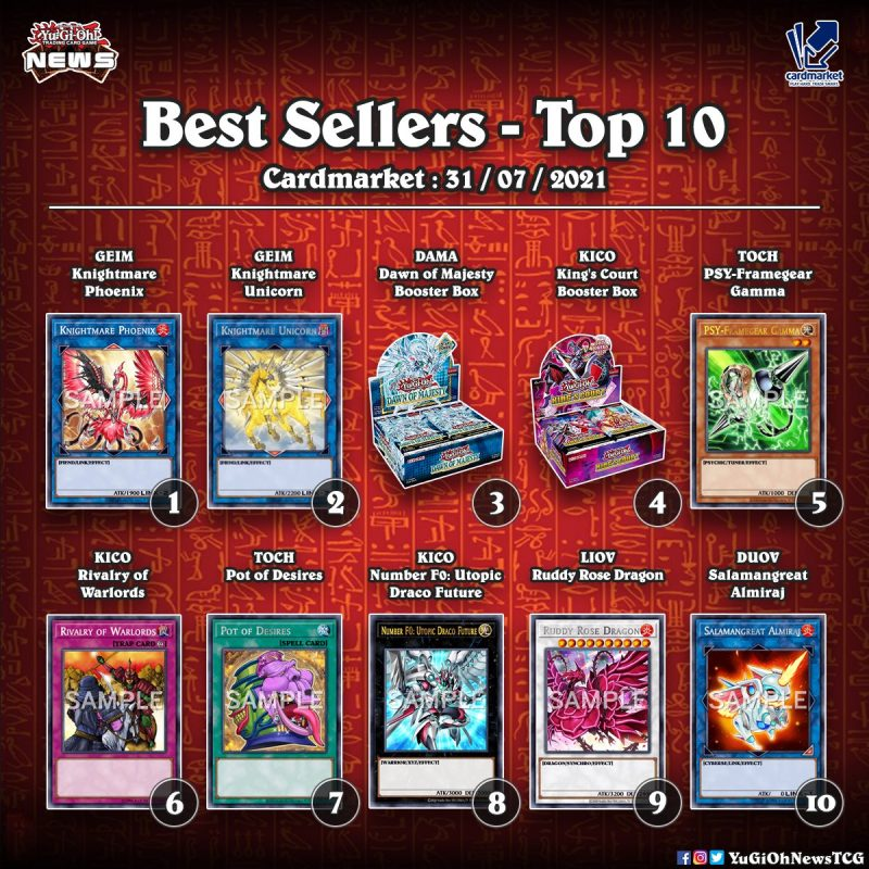 ❰𝗖𝗔𝗥𝗗 𝗠𝗔𝗥𝗞𝗘𝗧❱ Here is the list of the best selling YuGiOh cards and products on ...
