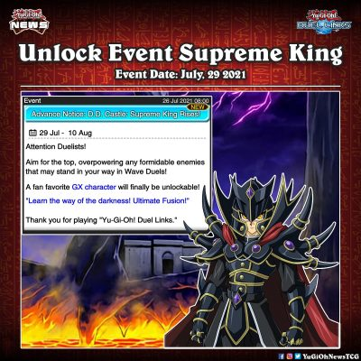 ❰𝗗𝘂𝗲𝗹 𝗟𝗶𝗻𝗸𝘀❱ Supreme King a fan favourite GX character will finally be unlocked ...
