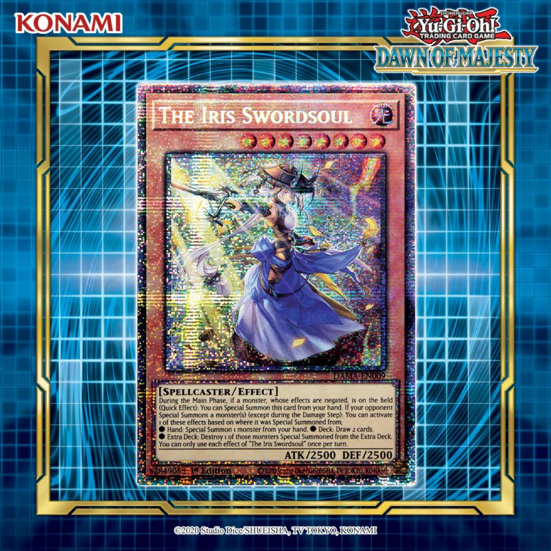 The Iris Swordsoul showcases its explosive power in the latest booster set, Dawn...