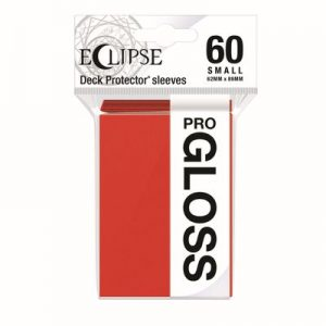 PRO-Gloss Eclipse Small Deck Protector Sleeves - Apple Red (60-Pack)