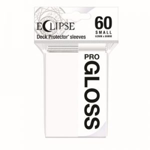 PRO-Gloss Eclipse Small Deck Protector Sleeves - Artic White (60-Pack)