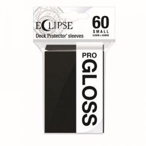 PRO-Gloss Eclipse Small Deck Protector Sleeves - Jet Black (60-Pack)