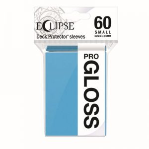 PRO-Gloss Eclipse Small Deck Protector Sleeves - Sky Blue (60-Pack)