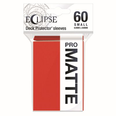 PRO-Matte Eclipse Small Deck Protector Sleeves - Apple Red (60-Pack)