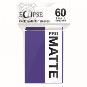 PRO-Matte Eclipse Small Deck Protector Sleeves - Royal Purple (60-Pack)