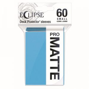 PRO-Matte Eclipse Small Deck Protector Sleeves - Sky Blue (60-Pack)