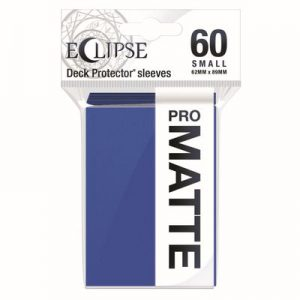 PRO-Matte Eclipse Small Deck Protector Sleeves - Pacific Blue (60-Pack)