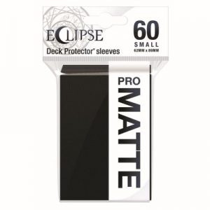 PRO-Matte Eclipse Small Deck Protector Sleeves - Jet Black (60-Pack)