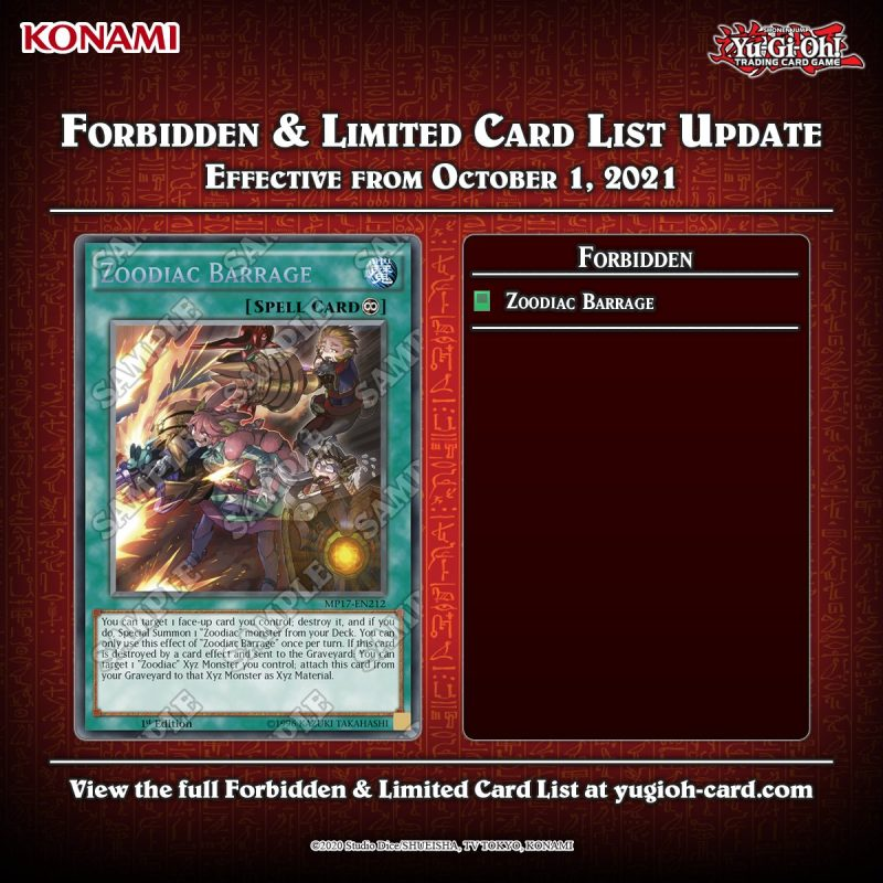 Attention Duelists!    The #YuGiOhTCG Forbidden & Limited List has been updated...