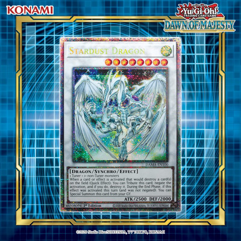 ICYMI: Yusei Fudo's ace Monster, Stardust Dragon, is now available as a Starligh...