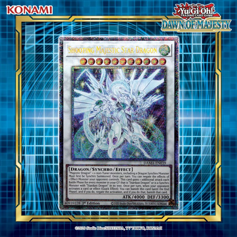 Shooting Majestic Star Dragon takes flight in Dawn of Majesty and you have a cha...