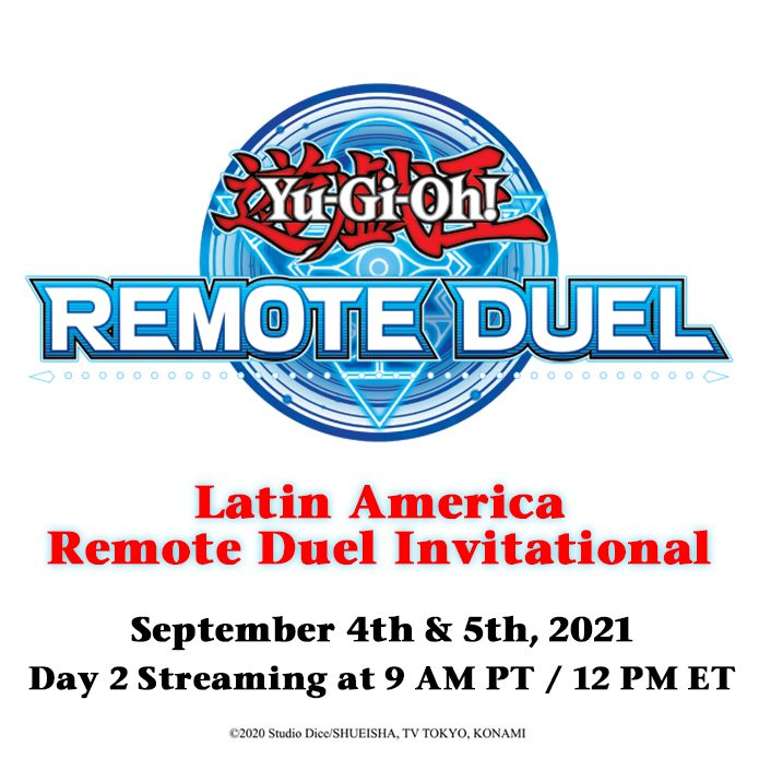 The Top 4 Duelists of the Latin America #YuGiOhTCG #RemoteDuel Invitational will...